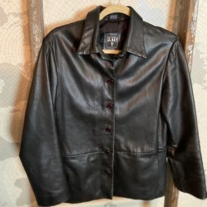 Frye leather jacket women's Small GUC